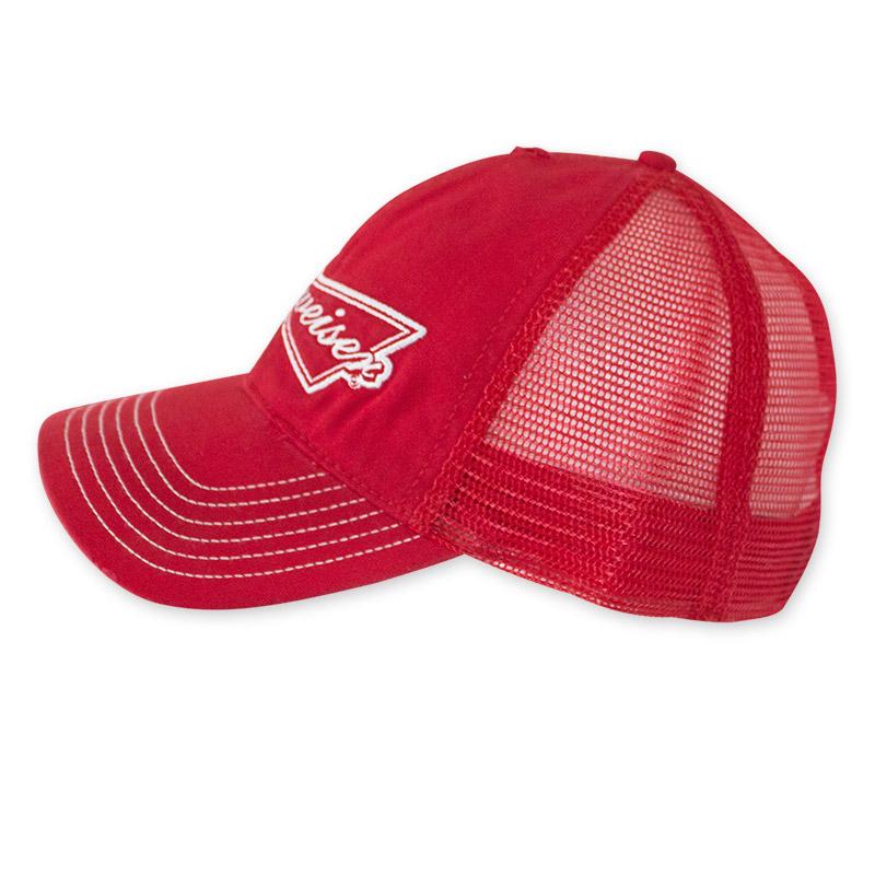 8575be3178e4b Budweiser Red Trucker Hat