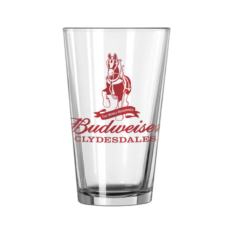 Budweiser Clydesdales Pint Glass