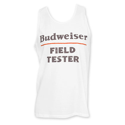 Budweiser Men's White Field Tester Tank Top