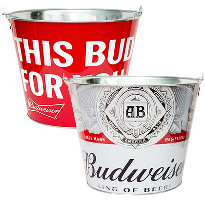 Budweiser Metal This Buds For You Ice Bucket