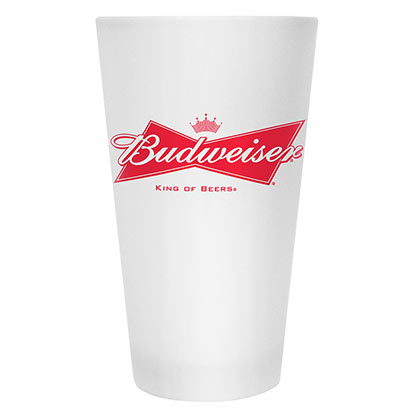 Budweiser Beer Frosted Glass