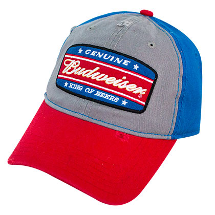 Budweiser King Of Beers Garnet Wash Snapback Hat
