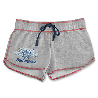 Budweiser Women's Gray Beer Logo Shorts