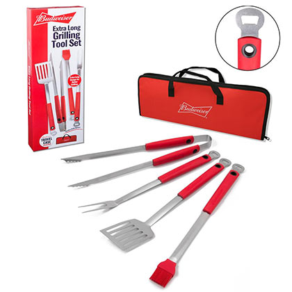 Budweiser BBQ Grilling Tool Set