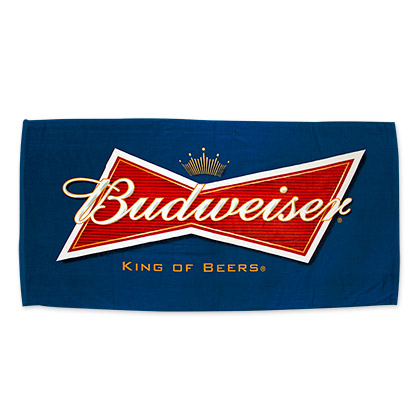 Budweiser Navy Blue Towel