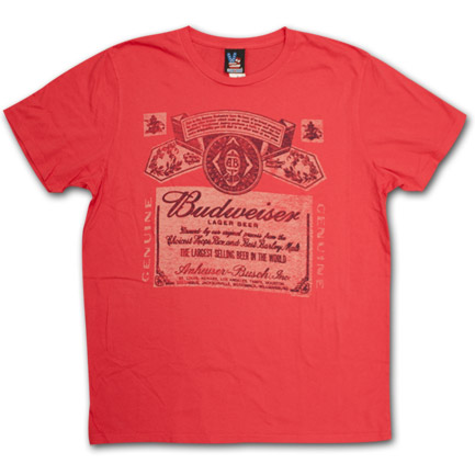Budweiser Vintage Beer Label Shirt