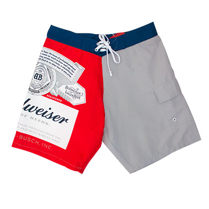 Budweiser Beer Logo Grey Two-Tone Board Shorts