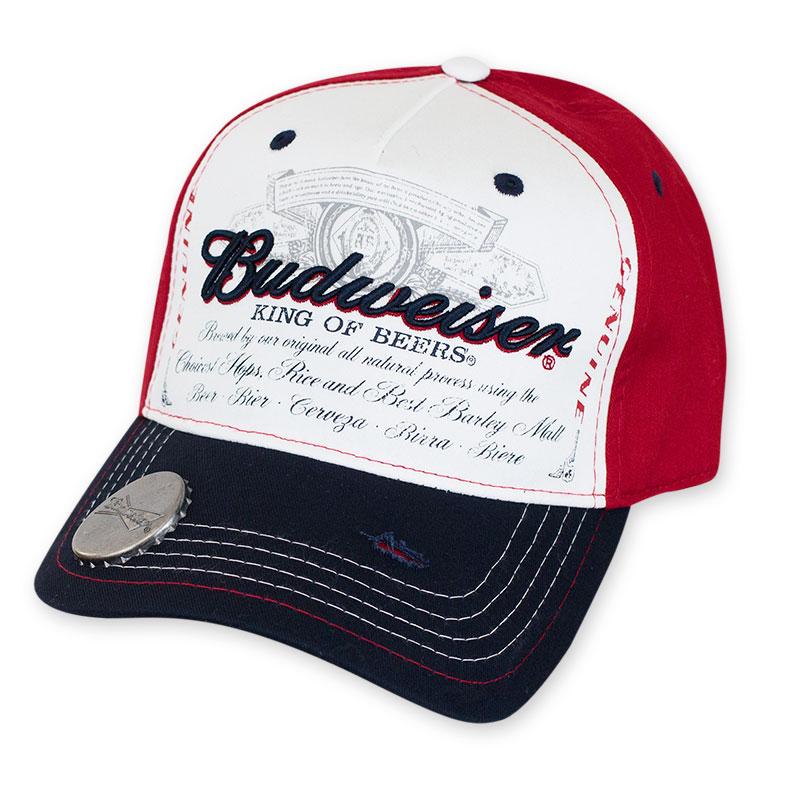 Budweiser King Of Beers Bottle Opener Hat