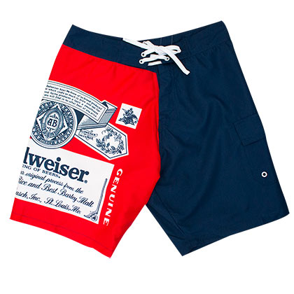 Budweiser Beer Logo Two-Tone Board Shorts