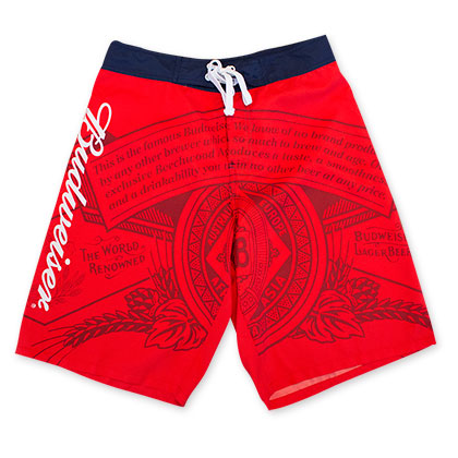 Budweiser Red Men's Board Shorts