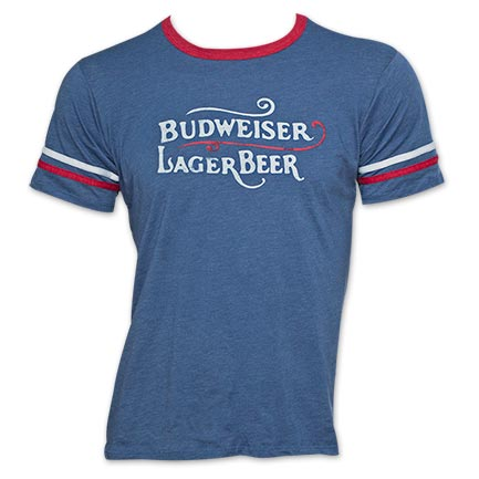 Budweiser Lager Beer Vintage Soccer T-Shirt