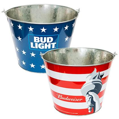 Budweiser Bud Light Logo Beer Bucket
