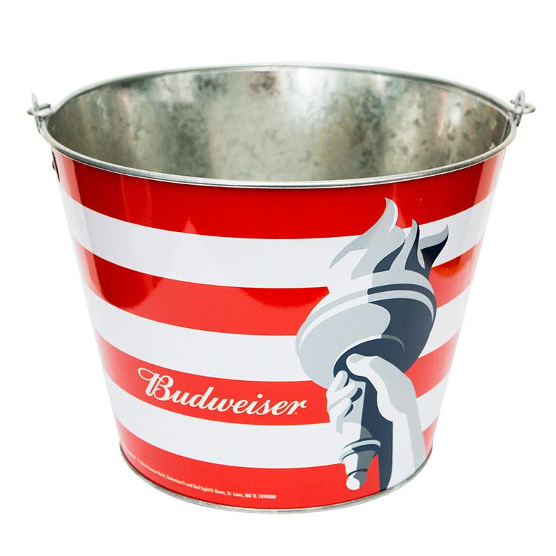 Bud Light Budweiser Metal Beer Bucket