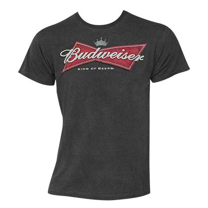 Men's Budweiser Logo Black Tee Shirt