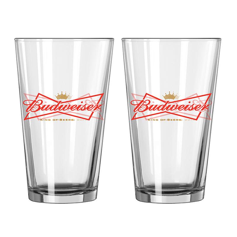 Budweiser 2 Pack Pint Glasses