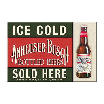 Budweiser Retro Ice Cold Bottles Magnet