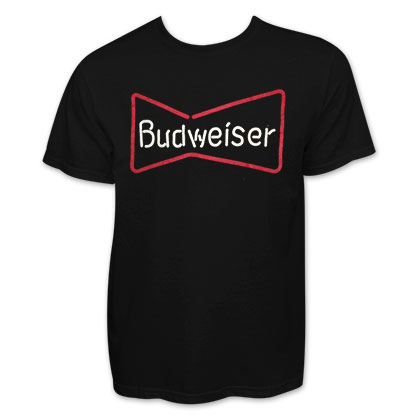 Budweiser Black Neon Sign Tee Shirt