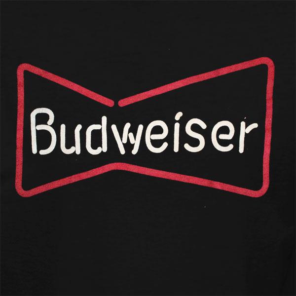 Budweiser Black Neon Sign Tee Shirt