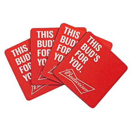 Budweiser Coaster Four Pack