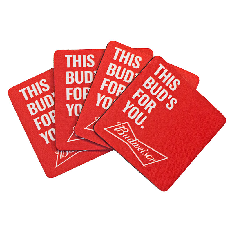 Budweiser Neoprene Coasters