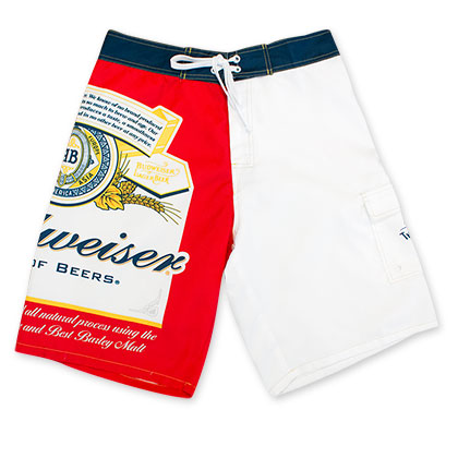 Budweiser Beer Label Board Shorts