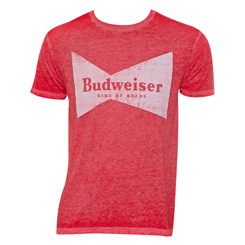 Men's Budweiser Bowtie Red Tee Shirt