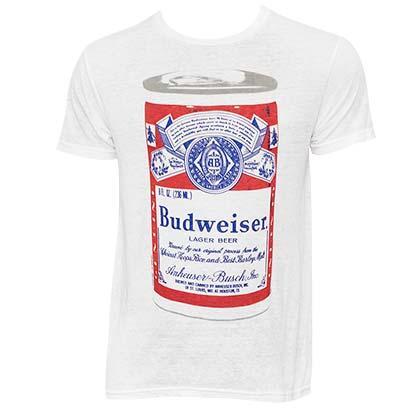 Men's Budweiser Big Can White Tee Shirt