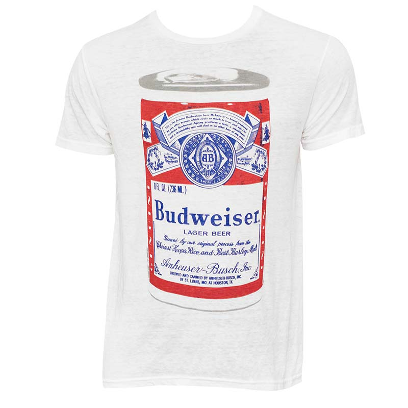 Men's Budweiser Big Can White Tee Shirt