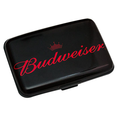 Budweiser Black Plastic Wallet Case