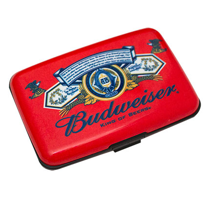Budwesier Logo Plastic Red Vintage Case Wallet