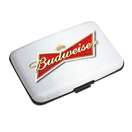 Budwesier Logo Plastic White Case Wallet
