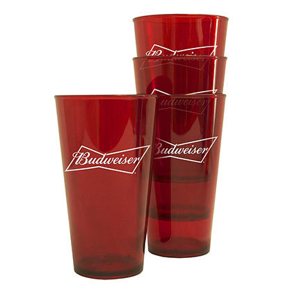 Budweiser Four Pack Pint Glasses