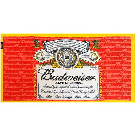 Budweiser Classic Logo Beach Towel