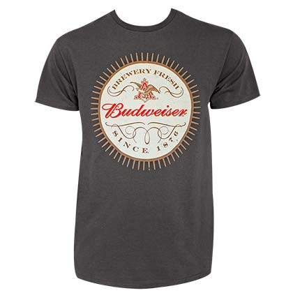Budweiser Men's Grey Since 1876 T-Shirt