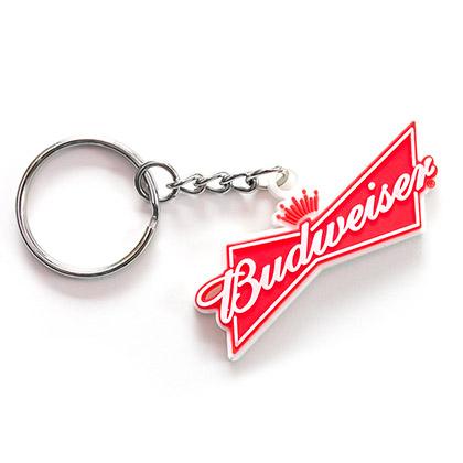 Budweiser Rubber Beer Logo Keychain