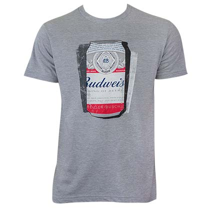 Budweiser Men's Grey Shadow Can T-Shirt