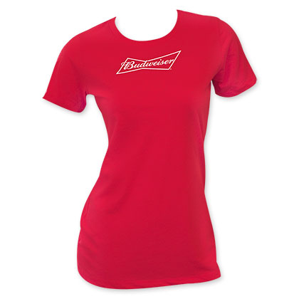 Budweiser Women's Red Tee Shirt