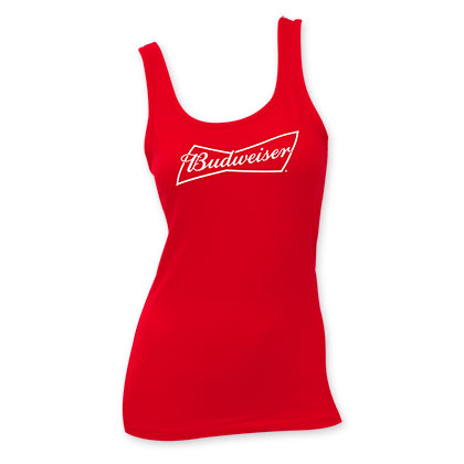 Budweiser Women's Red Tank Top
