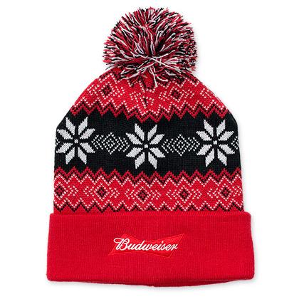 Budweiser Winter Pom Pom Beanie