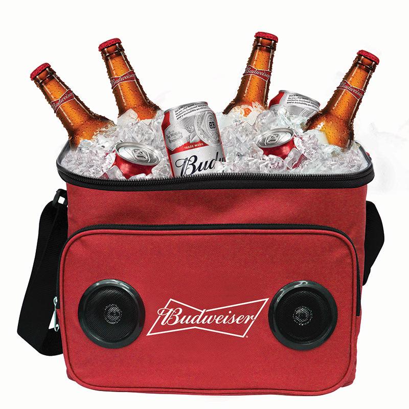 Budweiser 24 Can Bluetooth Speaker Cooler Bag