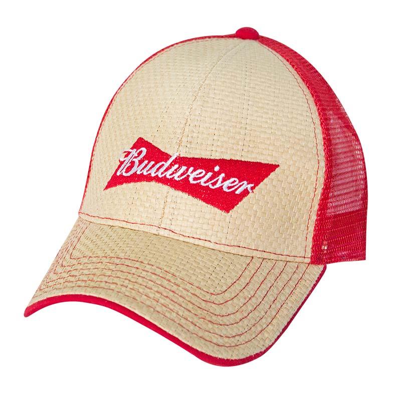 Budweiser Straw Baseball Hat f0e35d361ec2