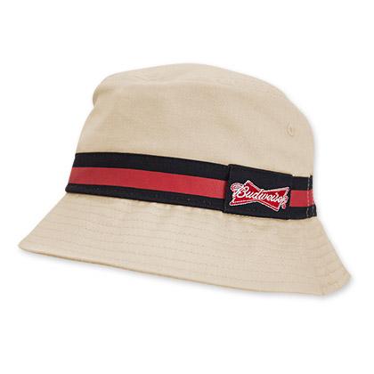 Budweiser Striped Beige Bucket Hat