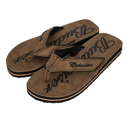 Budweiser Brown Suede Sandals
