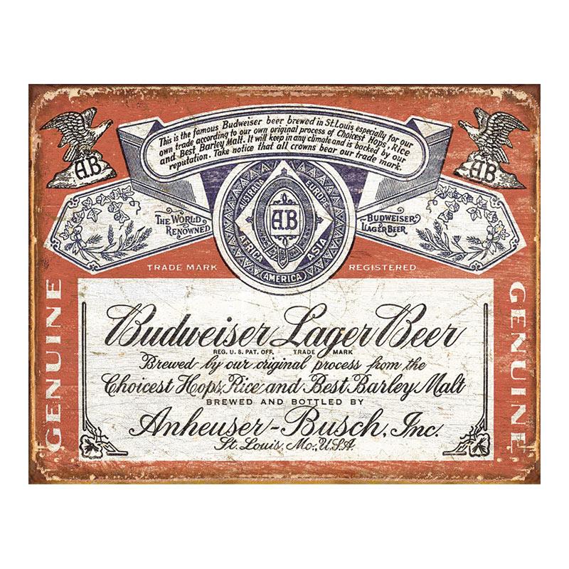 Budweiser Vintage Tin Sign