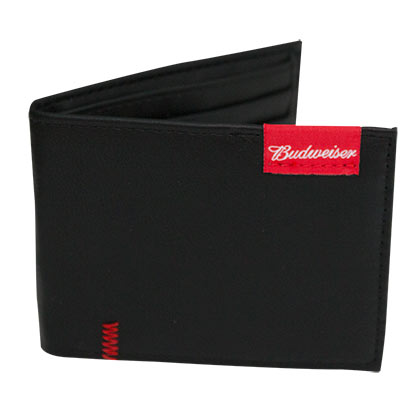 Budwesier Tag Logo Black Bifold Wallet