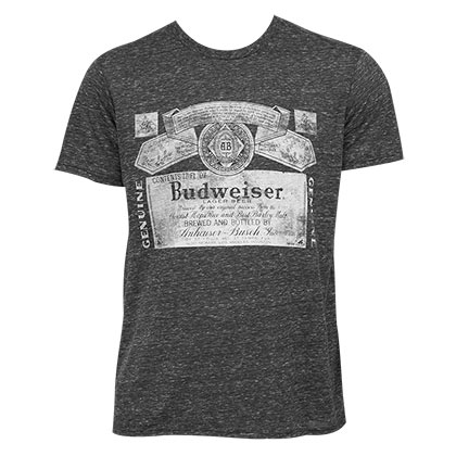 Budweiser Men's Black Triblend Vintage T-Shirt