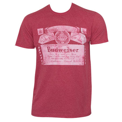 Budweiser Red Triblend Faded Tee Shirt