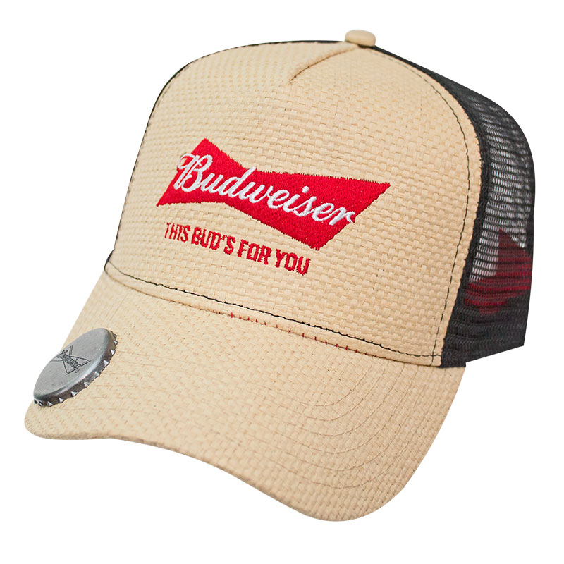 Budweiser Straw Bottle Opener Hat