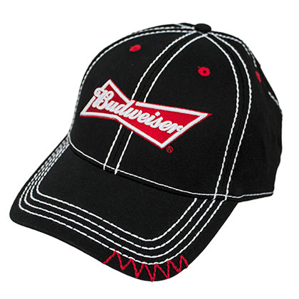 Budweiser Black Stitched Hat