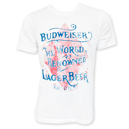 Budweiser Retro World Renowned Lager Tee Shirt